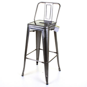 3PC Laus Table & Naples Bar Stool Set - Steel