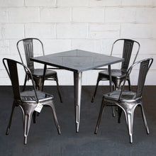 5PC Belvedere Table & Siena Chair Set - Steel