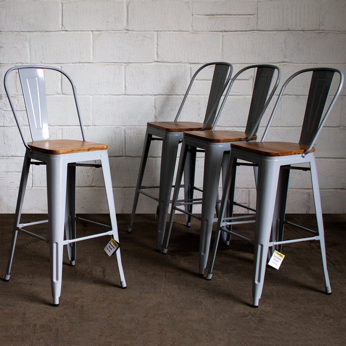 Soranzo Bar Stool - Pale Grey
