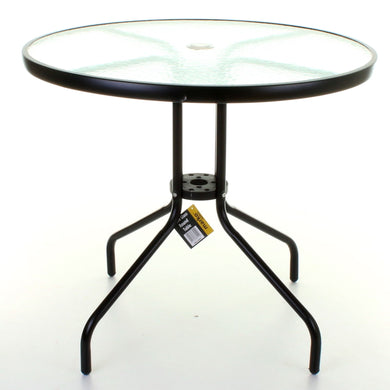 80cm Round Glass Bistro Table