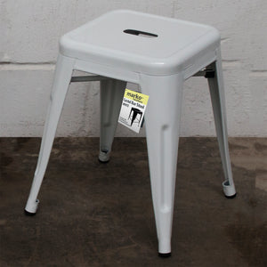 9PC Taranto Table & 8 Castel Stools Set - White