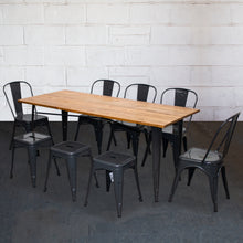 9PC Taranto Table, 5 Siena Chairs & 3 Castel Stools Set - Graphite Grey