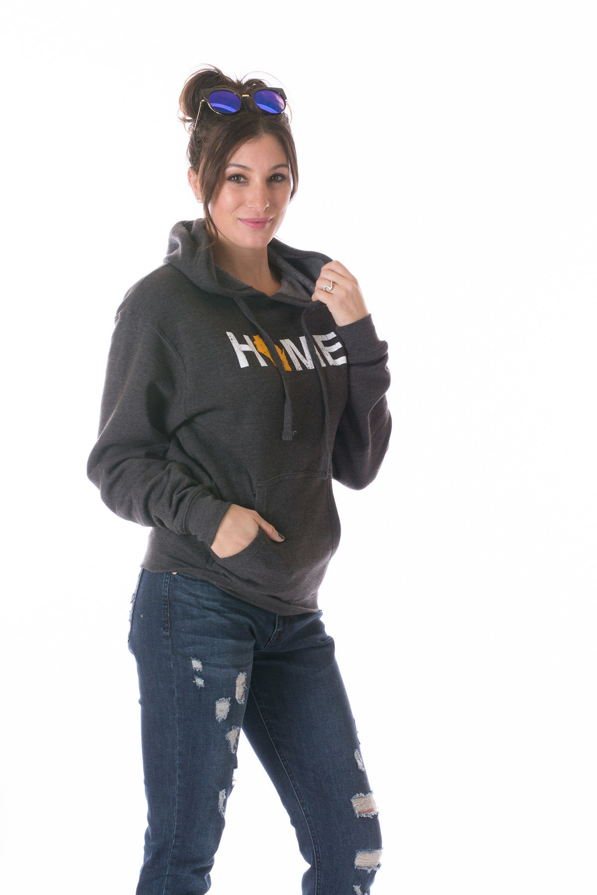 Charcoal Gray Home Hooded Sweatshirt