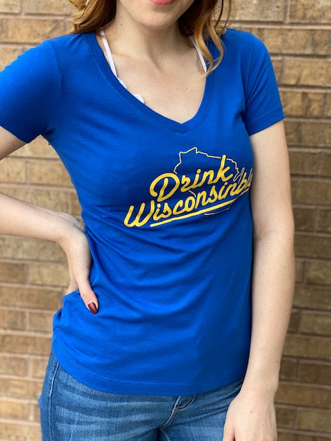 Brewers V-Neck Drink Wisconsibly Tee