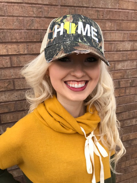 Camo Home Baseball Hat