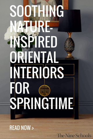 Soothing nature-inspired oriental interiors for springtime