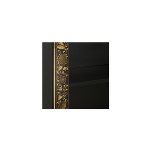 Oriental decorated bookcase in black