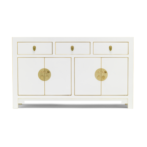 Qing white large sideboard