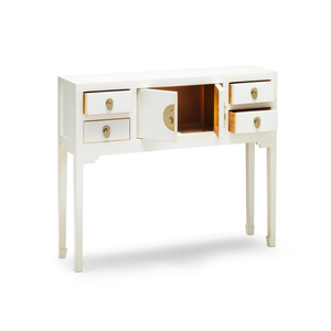 Qing white console table