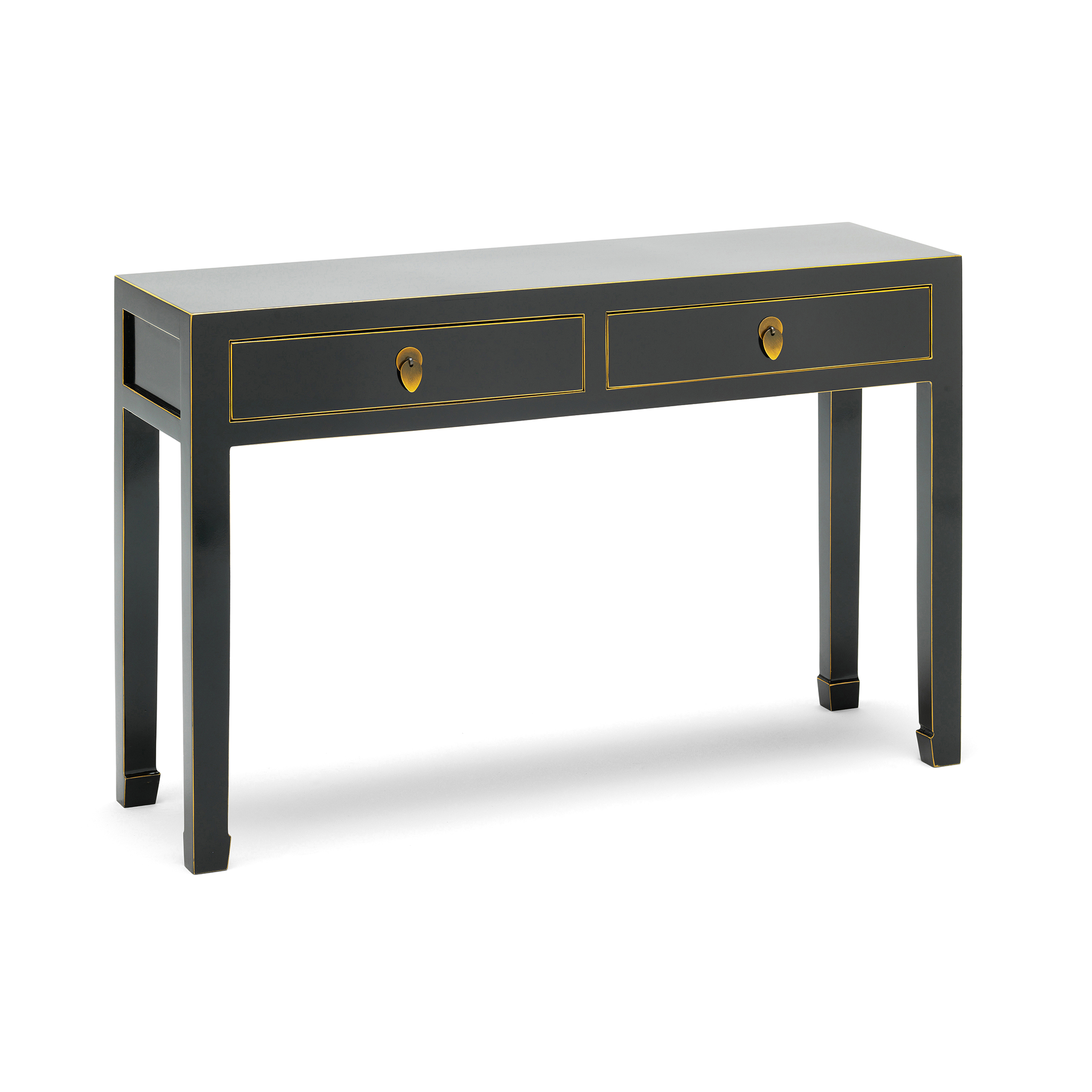 Qing Black And Gilt Large Console Table