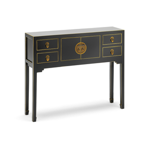 Qing black and gilt small console table