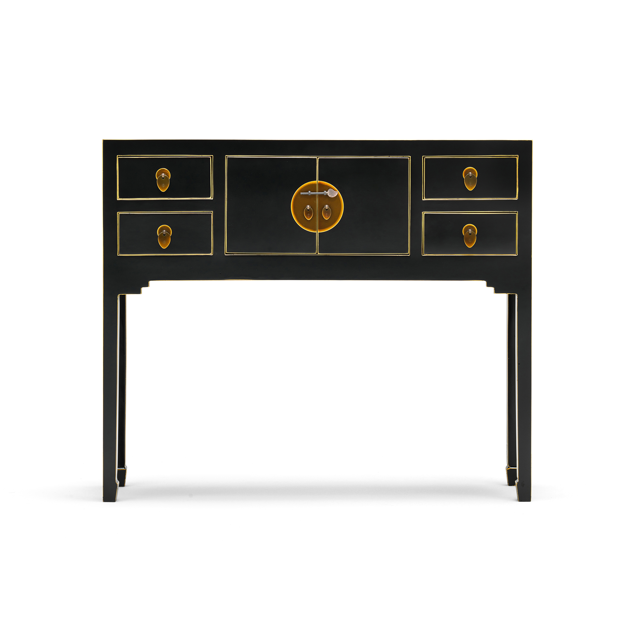 chinese black and gilt small console the nine schools. Black Bedroom Furniture Sets. Home Design Ideas