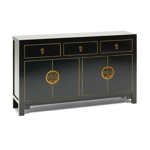Qing black and gilt sideboard, large