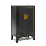 Qing black and gilt medium cabinet