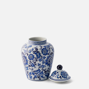 Blue and White Floral Ginger Jar