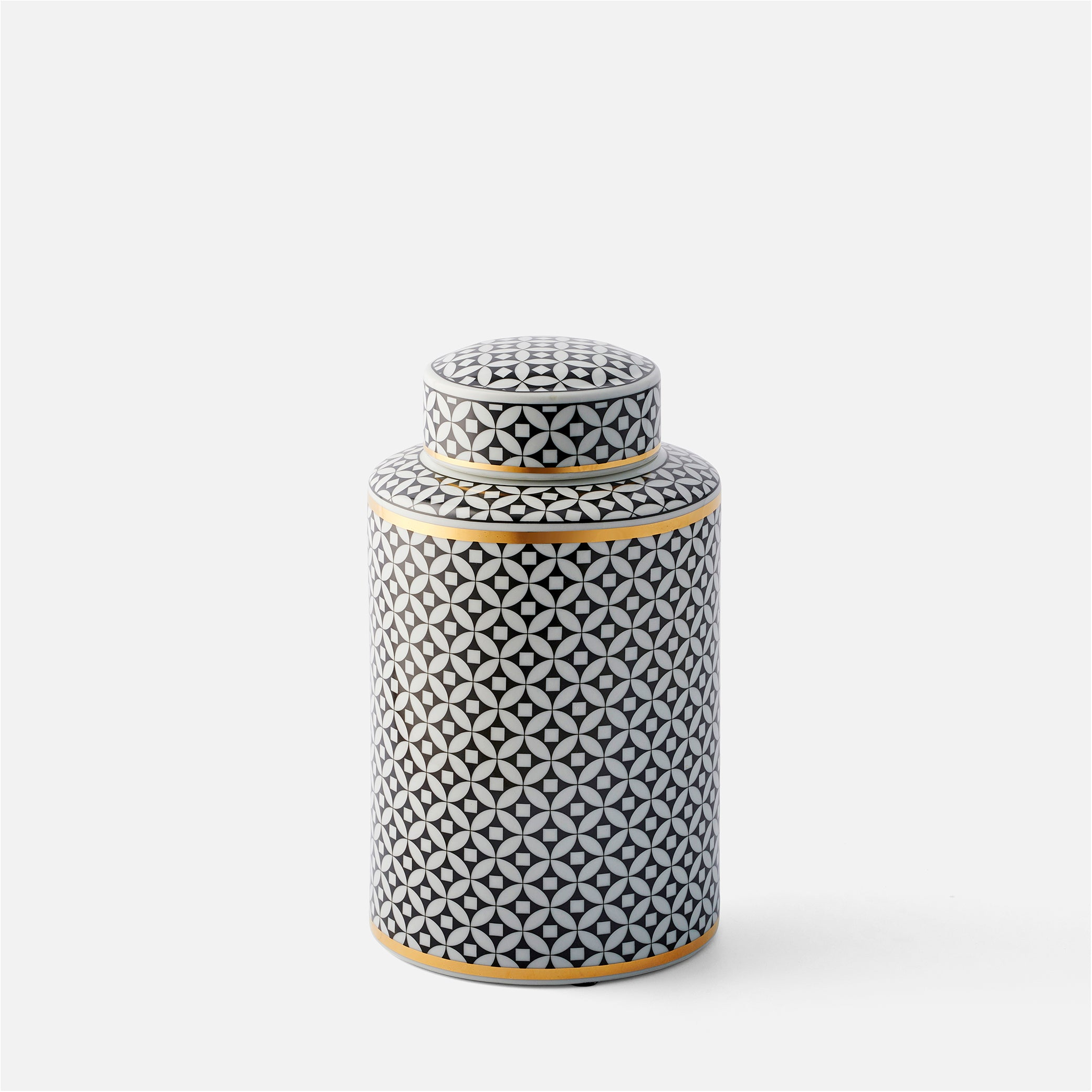 Monochrome Lidded Jar