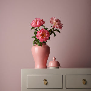 Blush Pink Ginger Jar