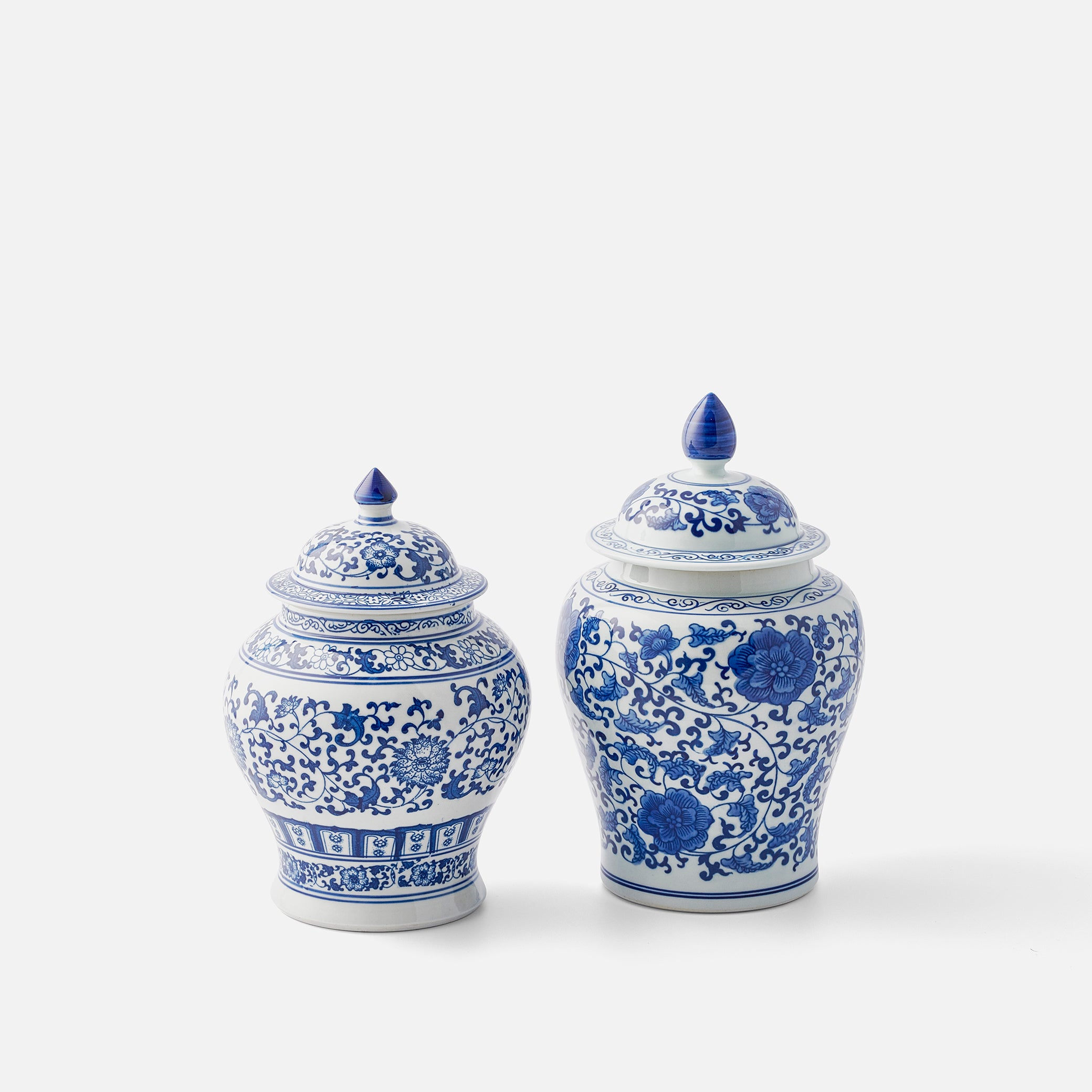 Small Blue and White Ginger Jar