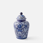 Floral and Geo Pattern Ginger Jar