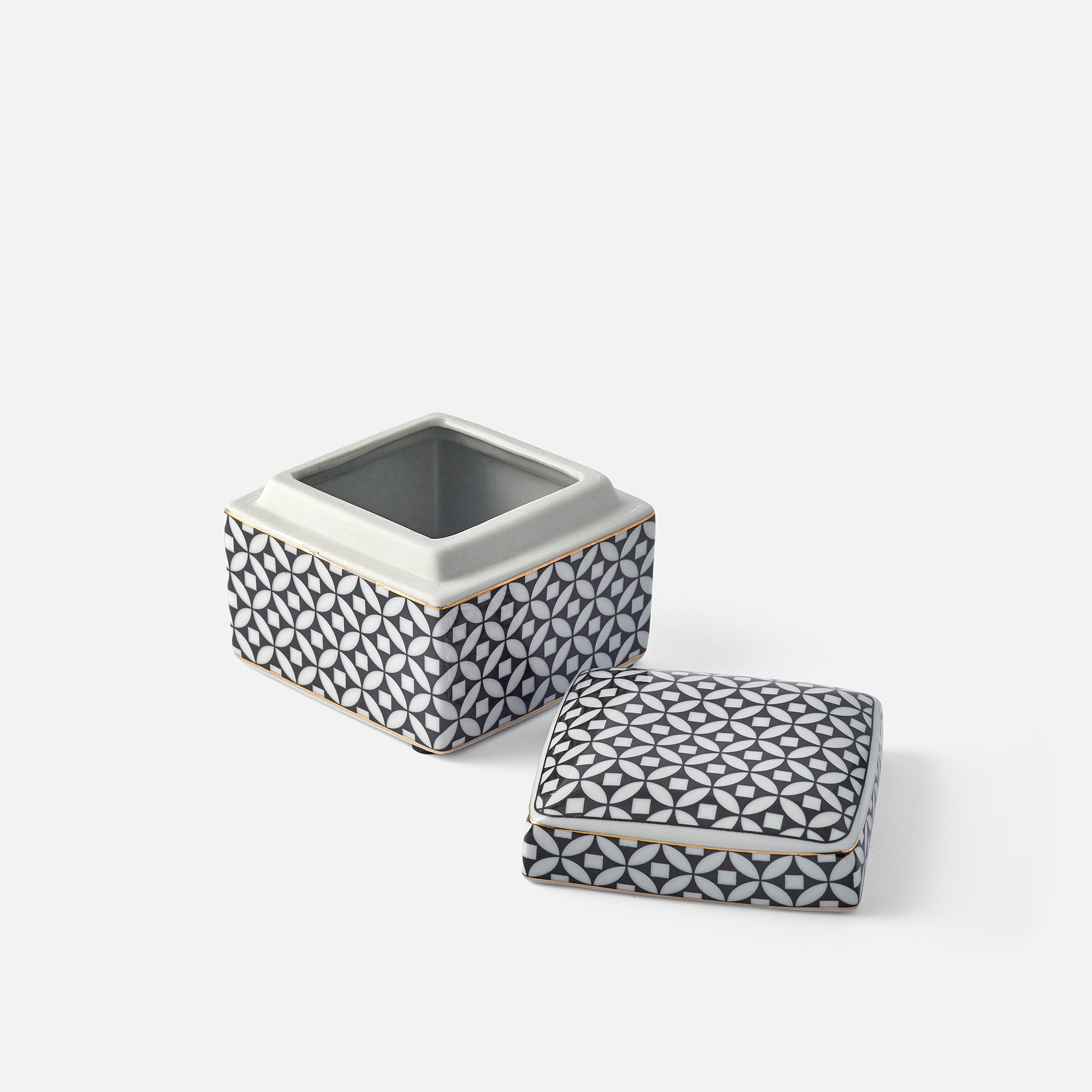 Small Monochrome Lidded Box