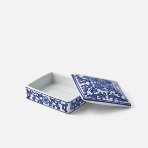Small Blue and White Lidded Box