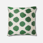 Green spotted Ikat Cushion
