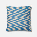 Blue Jagged Ikat Pattern Cushion