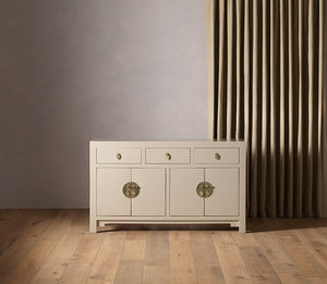 Qing oyster grey sideboard, large