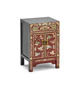 Oriental Red decorated small cabinet