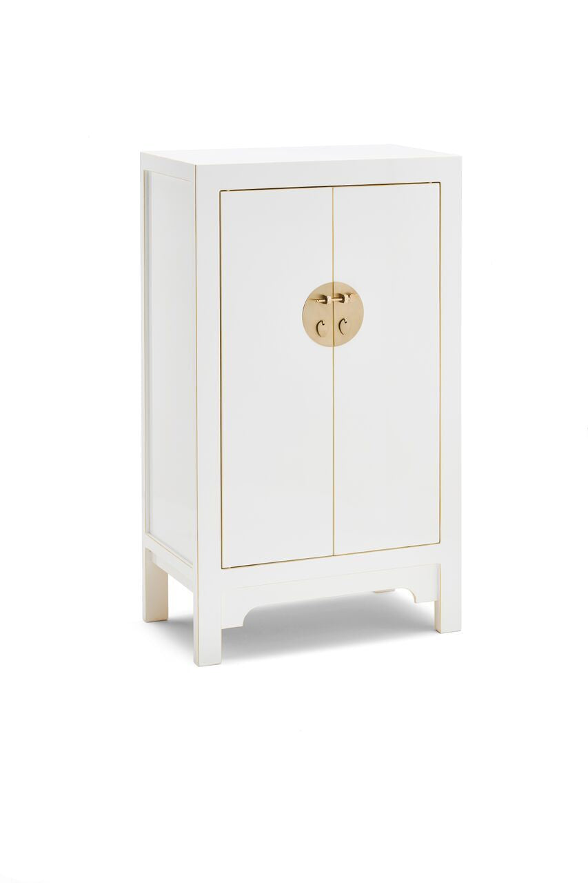 Qing White Medium Cabinet