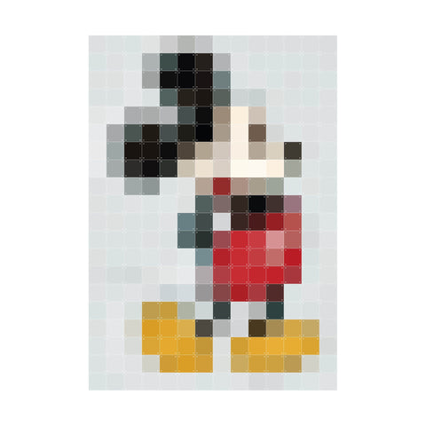 Wanddekoration 'Mickey Mouse pixel'
