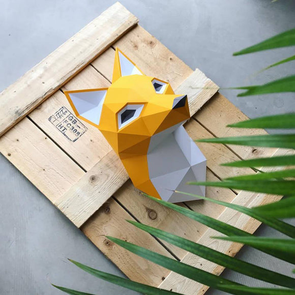 3D Papier-Bau-Set 'Fox'