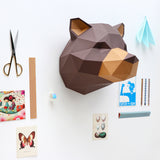 3D Papier-Bau-Set 'Grizzly'