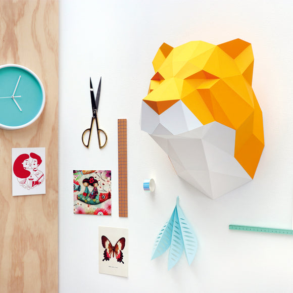 3D Papier-Bau-Set 'Tiger'