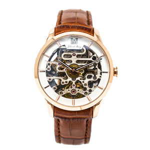 Automatik-Uhr 'Beauvoir Gold-Brown'
