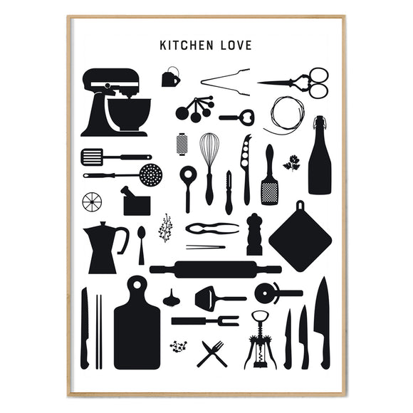 Poster 'KITCHEN-LOVE' klein