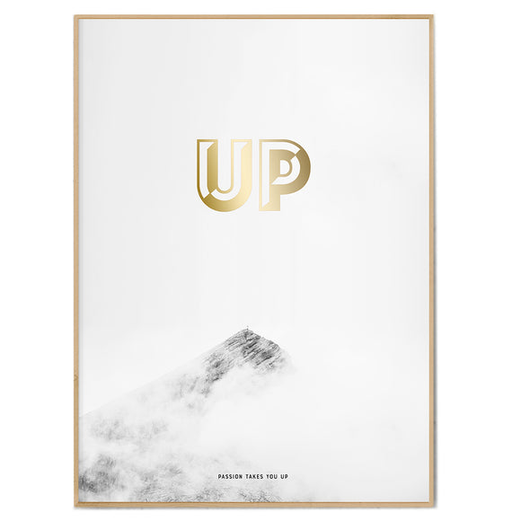 Bergposter 'PASSION TAKES YOU UP'