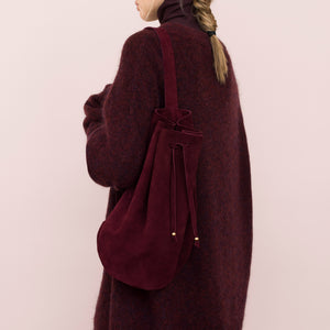 Umhängetasche 'Bucket Bag burgundy'