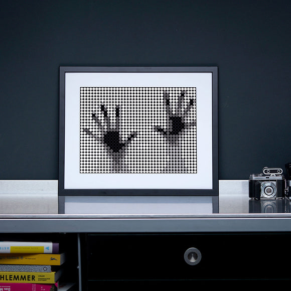 DIY Klebeposter-Set 'Hands'