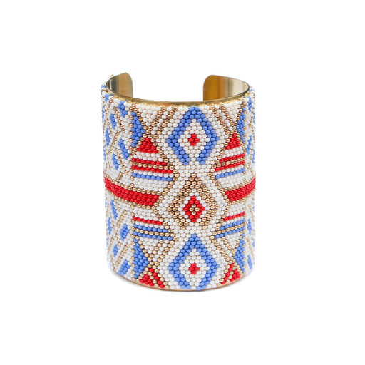 Large Cuff <br>Blue And Red