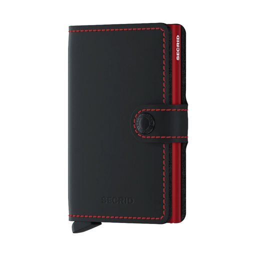 MINI WALLET <br> MATTE Black RED