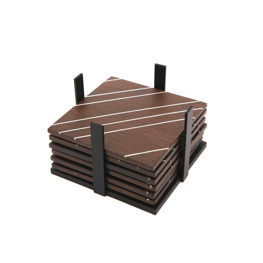 HATCH COASTER SET <br>Brown