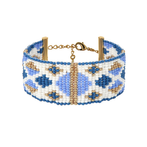 MEDIUM BRACELET <bR>Blue and Gold
