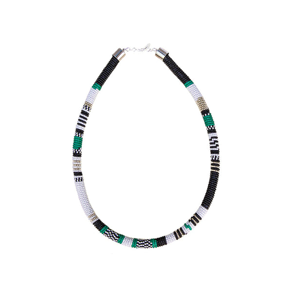 Tube Necklace <br>Green And White