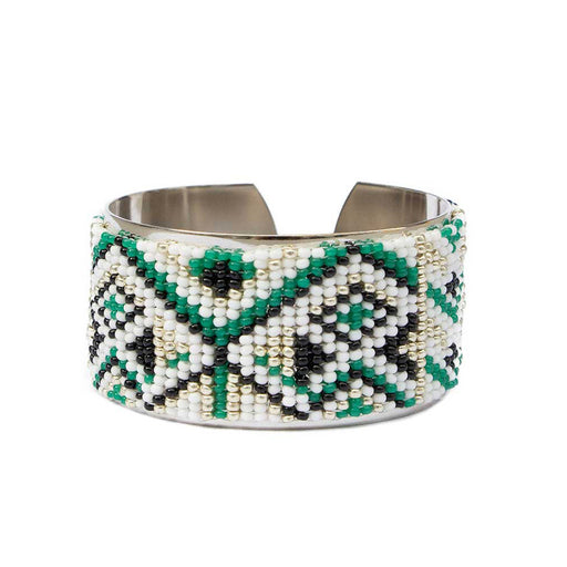 MEDIUM CUFF <br>Green and Silver