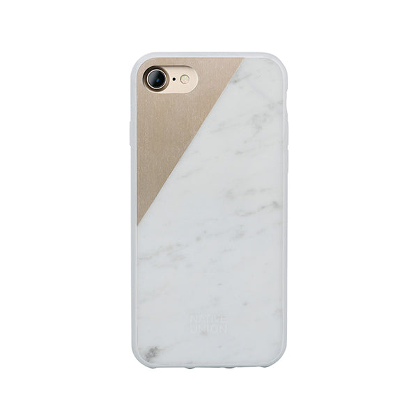 MARBLE WHITE <br> iPHONE CASE 7/8