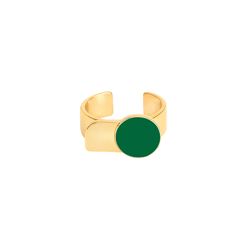 ARTY RING <br>EMERALD GREEN