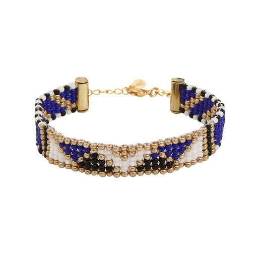 THIN BRACELET <br>Dark Blue and Gold