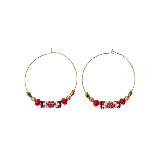 HOOP EARRINGS <br>Red and Gold