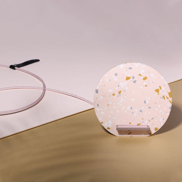 DOCK WIRELESS CHARGER <br> TERRAZZO ROSE EDITION